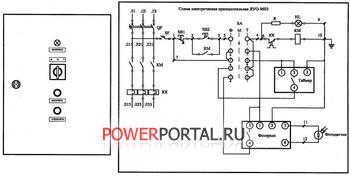 Принципиальная электрическая схема ЯУО 9603.
